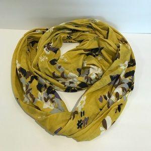 Anthropologie NWOT Porridge infinity scarf flowers